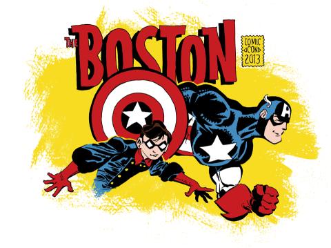 boston comic con logo rare promo hot captain america rare robin </em>