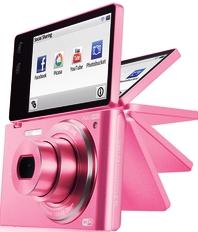 samsung mv800 pink flip camera photo rare hot promo rare