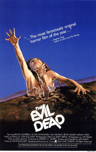 the evil dead rare movie poster one sheet rare sam raimi bruce campbell rare