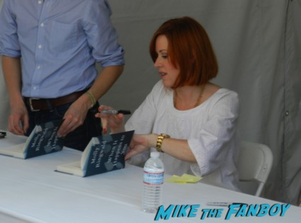 molly ringwald signing autographs at her book signing at the festival of books 2013 debbie reynolds 003