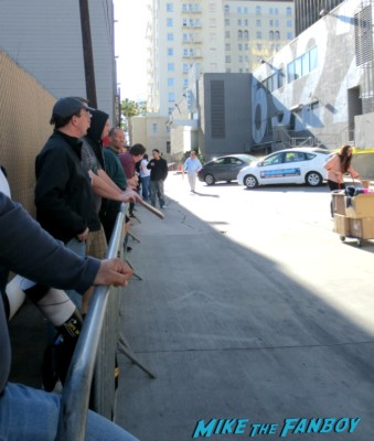 waiting in line for harrison ford to diss a crowd of 60 people after jimmy kimmel live rare signature