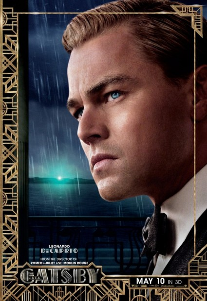 The Great Gatsby individual movie poster Leonardo DiCaprio rare promo baz luhrmann promo one sheet poster movie