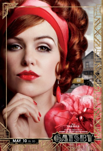 The Great Gatsby individual movie poster Isla Fisher rare promo baz luhrmann promo one sheet poster movie