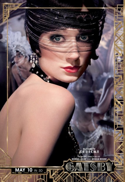 The Great Gatsby individual movie poster Adelaide Clemens rare promo baz luhrmann promo one sheet poster movie