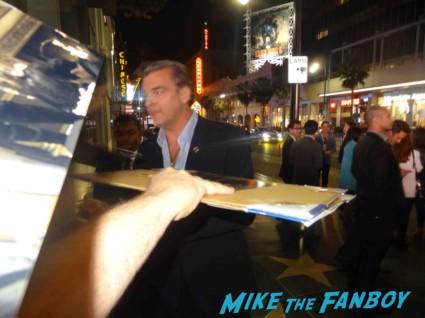 ray stevenson signing autographs at the  g.i. joe retaliation movie premiere report red carpet rare promo bruce willis red carpet the rock