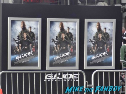 g.i. joe retaliation movie premiere report red carpet rare promo bruce willis red carpet the rock