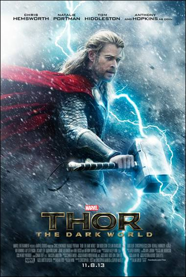 Thor 2 The dark world rare teaser one sheet movie poster promo hot rare chris hemsworth promo poster rare hot sexy blonde muscle