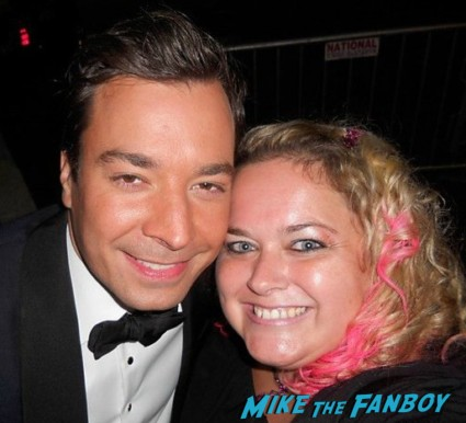 jimmy_fallon signing autographs for fans photo rare promo signed autograph rare