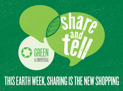 NBC Share and tell logo earth week 2013 Earth week green ribbon rare promo 2013 banner image hot rare promo earth day earth week 2013