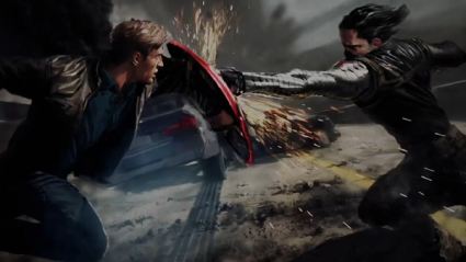 captain america: The Winter soldier rare preproduction artwork chris evans bucky fight rare marvel_phase_2_pic_2
