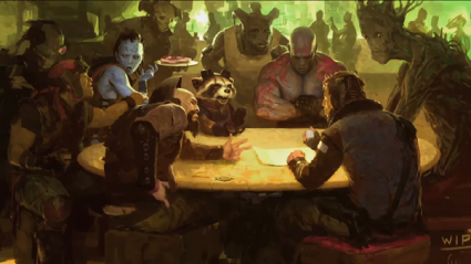 guardians of the galaxy preproduction art rare hot marvel_phase_2_pic_4