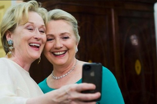Meryl streep and hilary clinton rare selfie rare promo