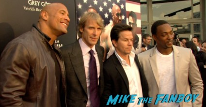 mark wahlberg dwayne johnson michael bay on the red carpet pain and gain movie premiere miami mark wahlberg hot sexy signing autographs (1)