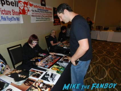 nell campbell signing my rocky horror picture show poster patricia quinn nell campbell signing autographs for fans 007