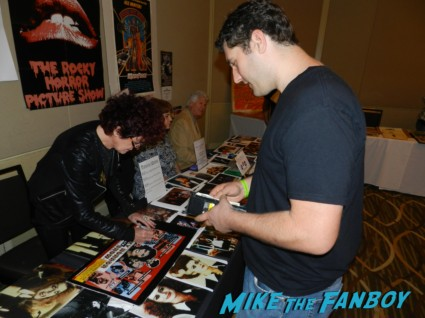 patricia quinn signing my rocky horror picture show poster patricia quinn nell campbell signing autographs for fans 007