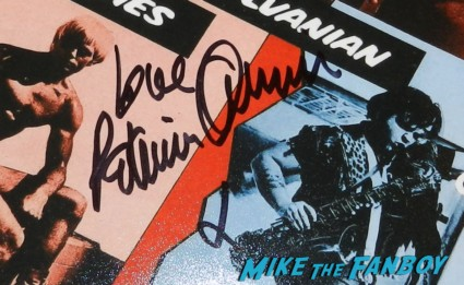 patricia quinn signed rocky horror picture show poster patricia quinn nell campbell signing autographs for fans 031