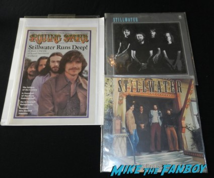 almost famous stillwater LP and Rolling Stone magazine cover rare promo props from Almost Famous rare billy cudrup cameron crowe jason lee patricia quinn nell campbell signing autographs for fans 033