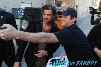 patrick dempsey signing autographs for fans after taping jimmy kimmel live elisabeth moss signing autographs for fans 008