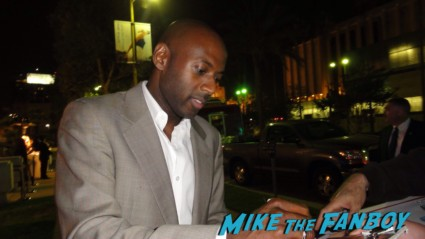 Romany Malco signing autographs for fans weeds star baby mama rare promo hot sexy Blackberry party and meeting christina ricci romany malco michelle trachenberg rare promo hot sexy adrian greener