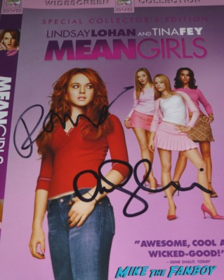 rachel mcadams signed autograph mean girls dvd cover rare promo signing autographs hot sexy mean girls (3)