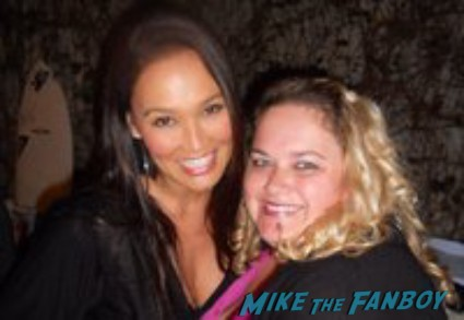 Tia Carerre fan photo signing autographs for fans hot rare wayne's world star