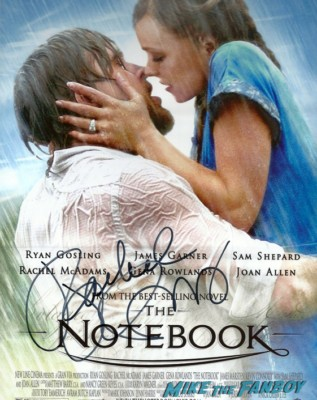 rachel mcadams signed autograph the notebook promo movie poster hot sexy rare one sheet poster promo signed photo rare