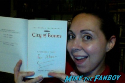 signed book city of bones signed autograph los angeles times festival of books rare promo Joanne Fluke and Laura Levine signing los angeles times festival of books 2013