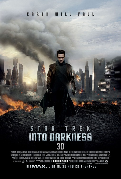 star trek into darkness movie poster promo Benedict Cumberbatch hot sexy rare star_trek_into_darkness_ver3