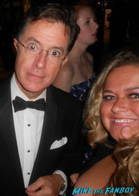 stephen_colbert signing autographs for fans photo rare promo signed autograph rare