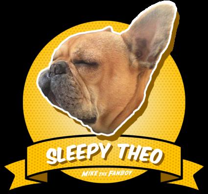 Sleepy Theo Award adorable brown french bulldog rare