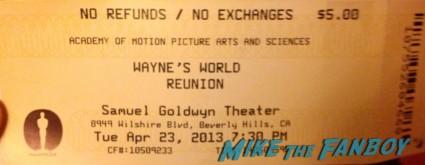 wayne's world reunion ticket stub rare promo 20th anniversary screening logo rare