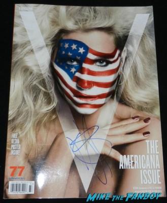 Ke$ha signed autograph V Magazine rare USA Ke$ha signing autographs for fans rare promo Ke$ha kesha signed autograph promo mini warrior poster signing autographs kesha hot sexy rare fan photo 030