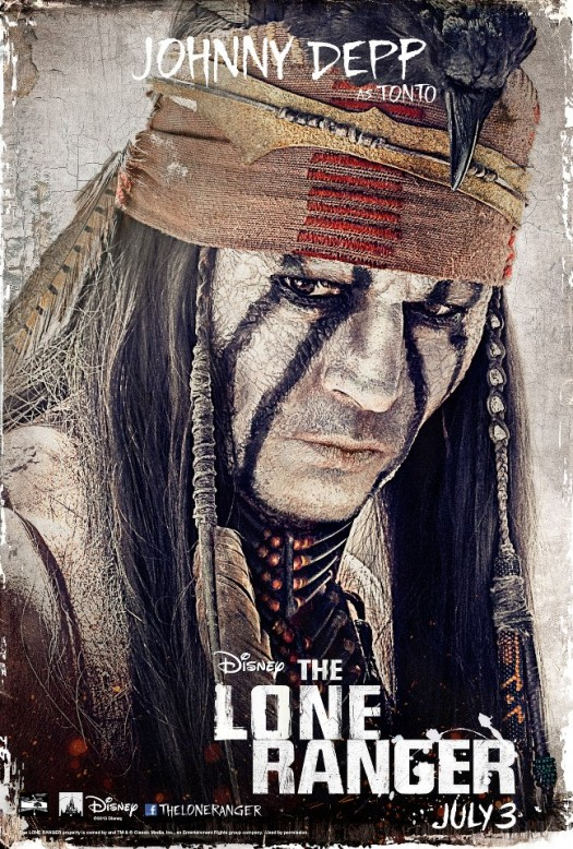 johnny depp individual movie poster promo one sheet movie poster hot tonto one sheet tonto-lonerganger