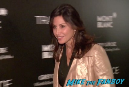 gina gershon on the red carpet at the trance movie premiere new york red carpet photos rosario dawson