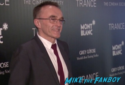 danny boyle on the red carpet at the trance movie premiere new york red carpet photos rosario dawson