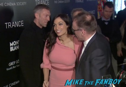 rosario dawson on the red carpet at the trance movie premiere new york red carpet photos rosario dawson