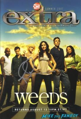 Romany Malco signed weeds season 5 promo poster rare hot sexy signature