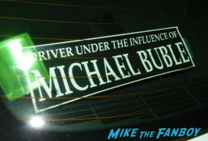 Driver under the influence of Michael Buble bumper sticker