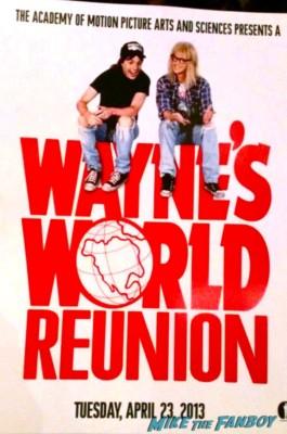 wayne's world reunion promo poster mini hot rare ticket stub rare promo 20th anniversary screening logo rare