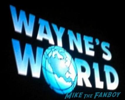 wayne's world reunion rare promo 20th anniversary screening logo rare