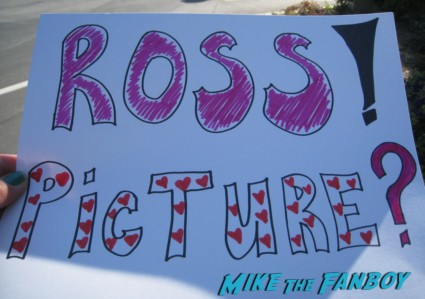Karalee's sign for Ross Mathews to stop