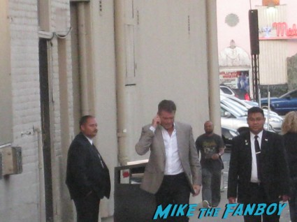 pierce Brosnan signing autographs for fans at jimmy kimmel live signature autograph mars attacks 007 rare promo