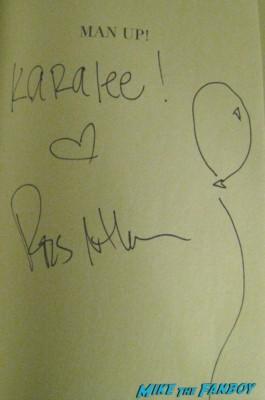 ross mathews signed autograph book novel rare Karalee's sign for Ross Mathews to stop