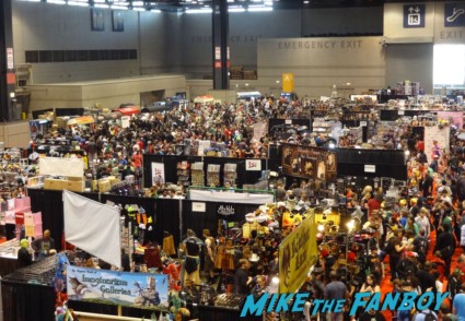 The convention floor at Chicago Comic and entertainment expo c2e2 banner logo rare