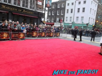 The olivier awards red carpet 2013 with daniel radcliffe kim cattrall rre signing autographs