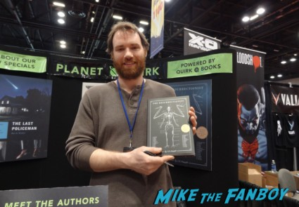 EB Hudspeth signing autographs at the Chicago Comic and entertainment expo c2e2 banner logo rare