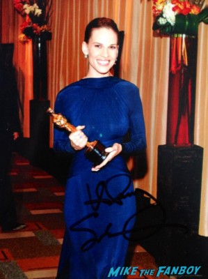 Hilary Swank signed autograph photo rare hot sexy singer photo shoot