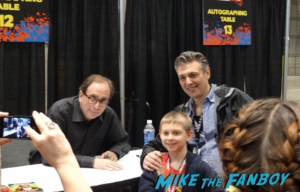 RL Stine, the writer of Goosebumps signing autographs at the Chicago Comic and entertainment expo c2e2 banner logo rare