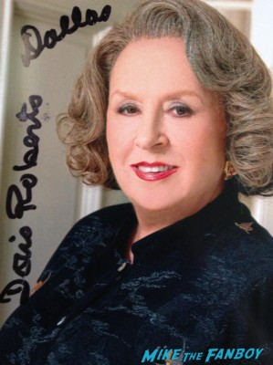 Doris Roberts signed autograph photo rare hot sexy singer photo shoot