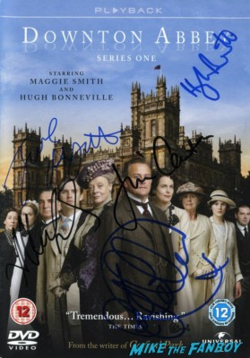 Downton Abbey signed autograph cast photo imelda Staunton  signing autographs at the The olivier awards red carpet 2013 with daniel radcliffe kim cattrall rre signing autographs